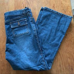 Thyme Maternity Jeans Elastic Waist Expandable